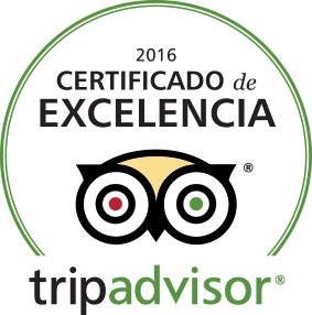 Certificate of Excellence from Trip Advisor for Gaia Sagrada